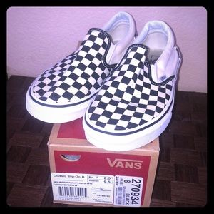 Vans Checkerboard Men's Size 8. Black and white!